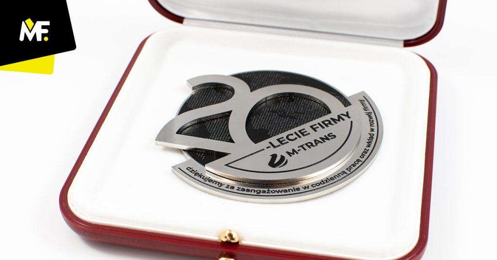 Medal firmowy 20-lecie M-Trans